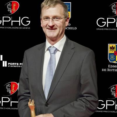 Jacques Baur, Président de la Société Suisse de Chronométrie, lauréate du Prix Spécial du Jury 2012