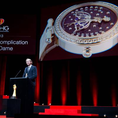Speech of Nicolas Bos, CEO of Van Cleef & Arpels, winner of the Ladies' Complications Watch Prize 2013