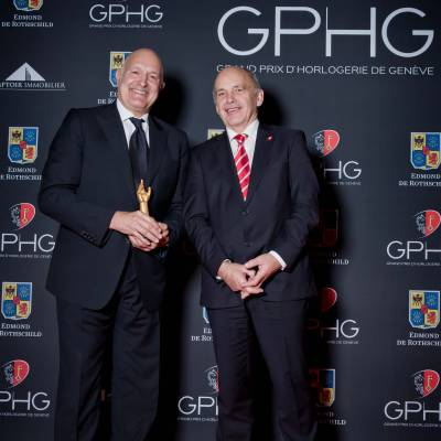 Michele Sofisti, CEO of Girard-Perregaux, and Ueli Maurer, President of the Swiss Confederation