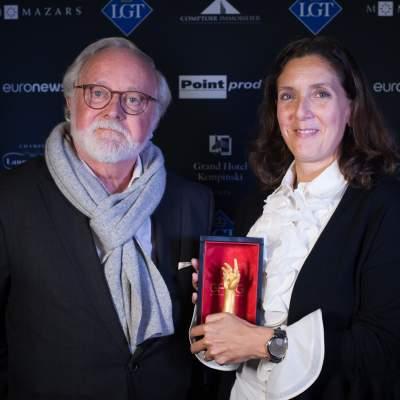 Laurent Ferrier, Founder and Vanessa Monestel, CEO Laurent Ferrier, winners of the Men's Complication Watch Prize 2018