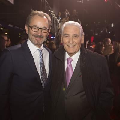 Carlo Lamprecht, former President of the GPHG Foundation and Raymond Loretan, President of the GPHG Foundation