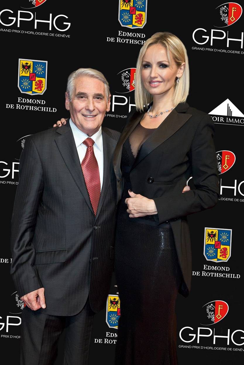 Carlo Lamprecht (Président du GPHG) et Adriana Karembeu