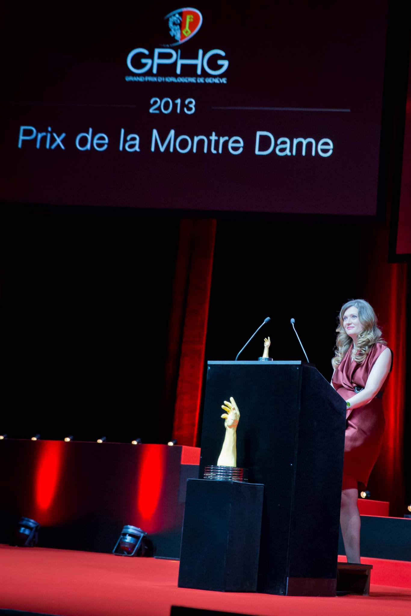 Speech of Brigitte Morina, CEO of DeLaneau, winner of the Ladies' Watch Prize 2013