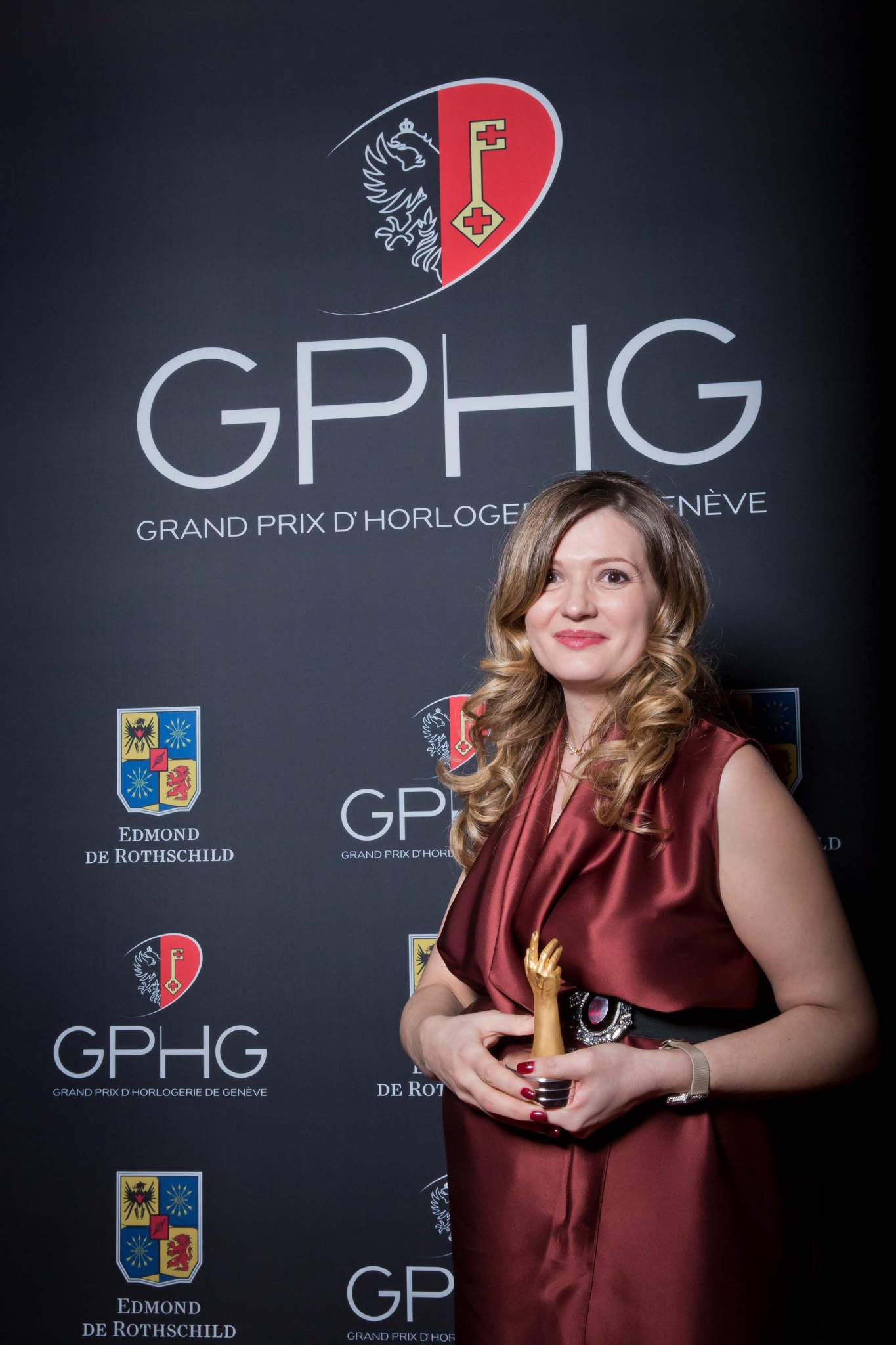 Brigitte Morina, CEO of DeLaneau, winner of the Ladies' Watch Prize 2013