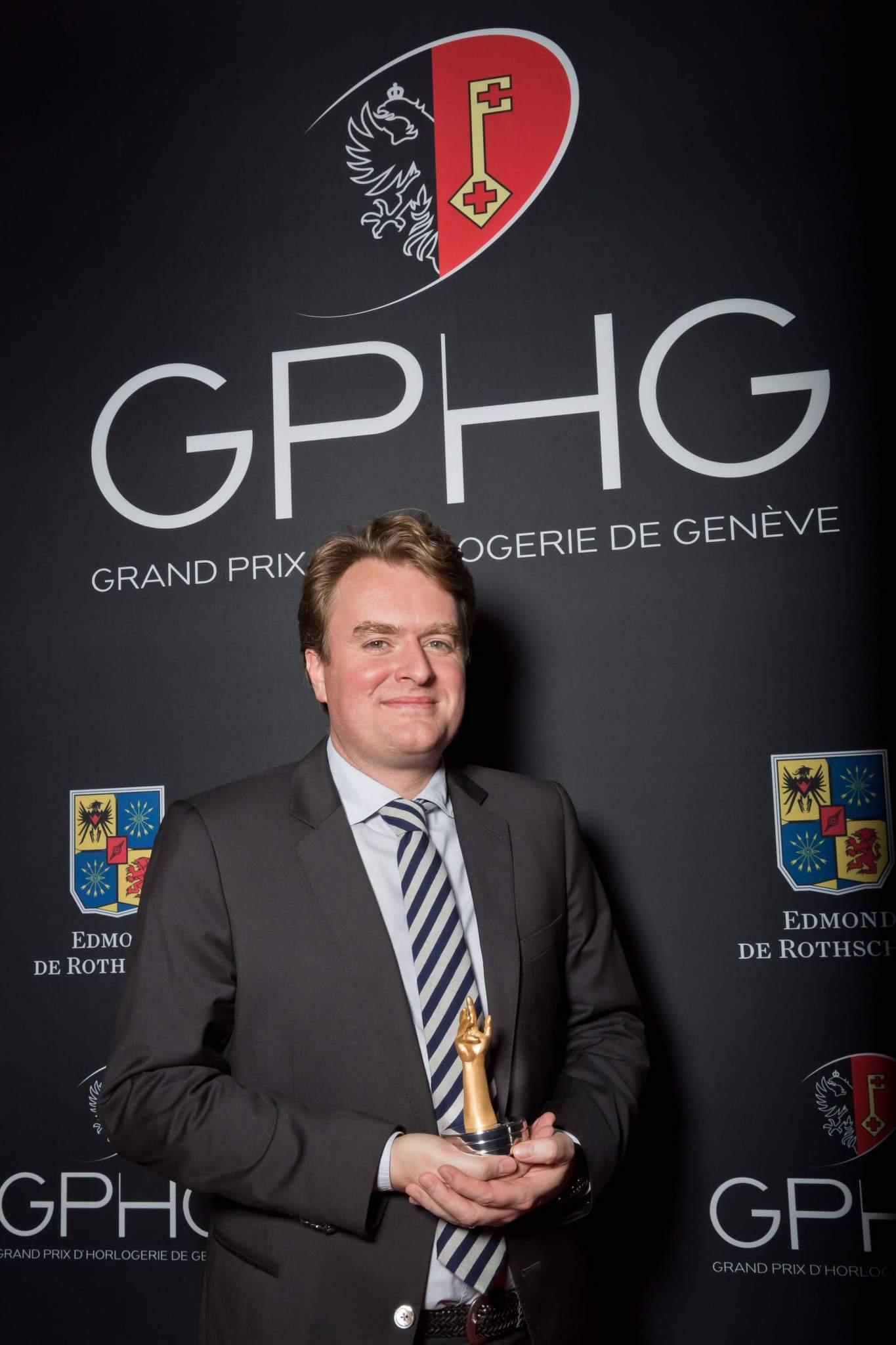 Benoît Mintiens, founder of Ressence, winner of the Horlogical Revelation Prize 2013