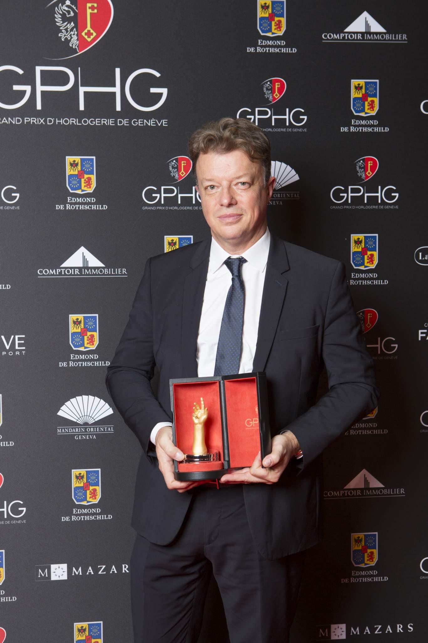 Nicolas Beau (International Watch Director of Chanel, winner of the Jewellery Watch Prize 2016)