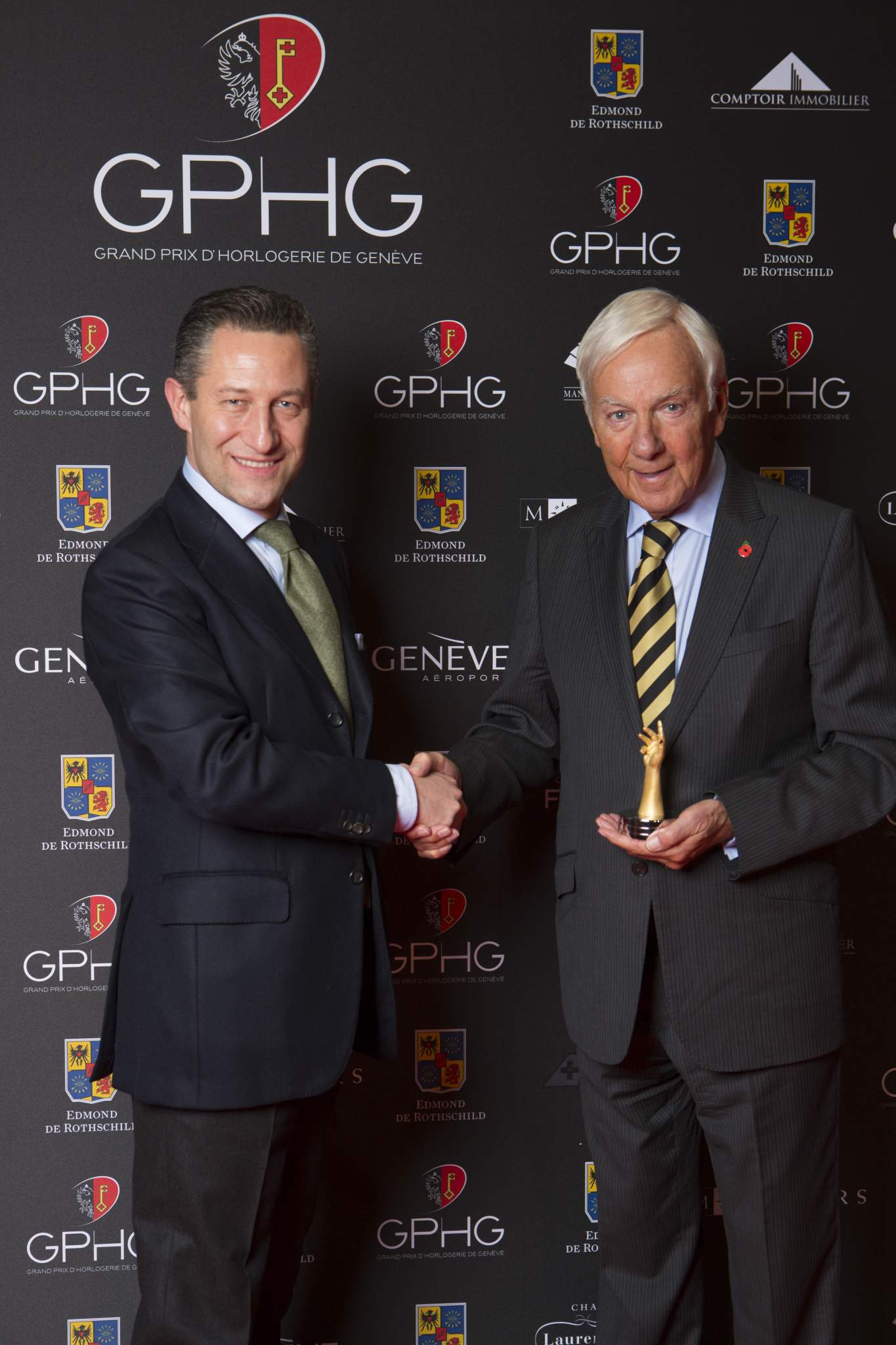 Aurel Bacs (President of the jury) and David Newman (President of The George Daniels Educational Trust)