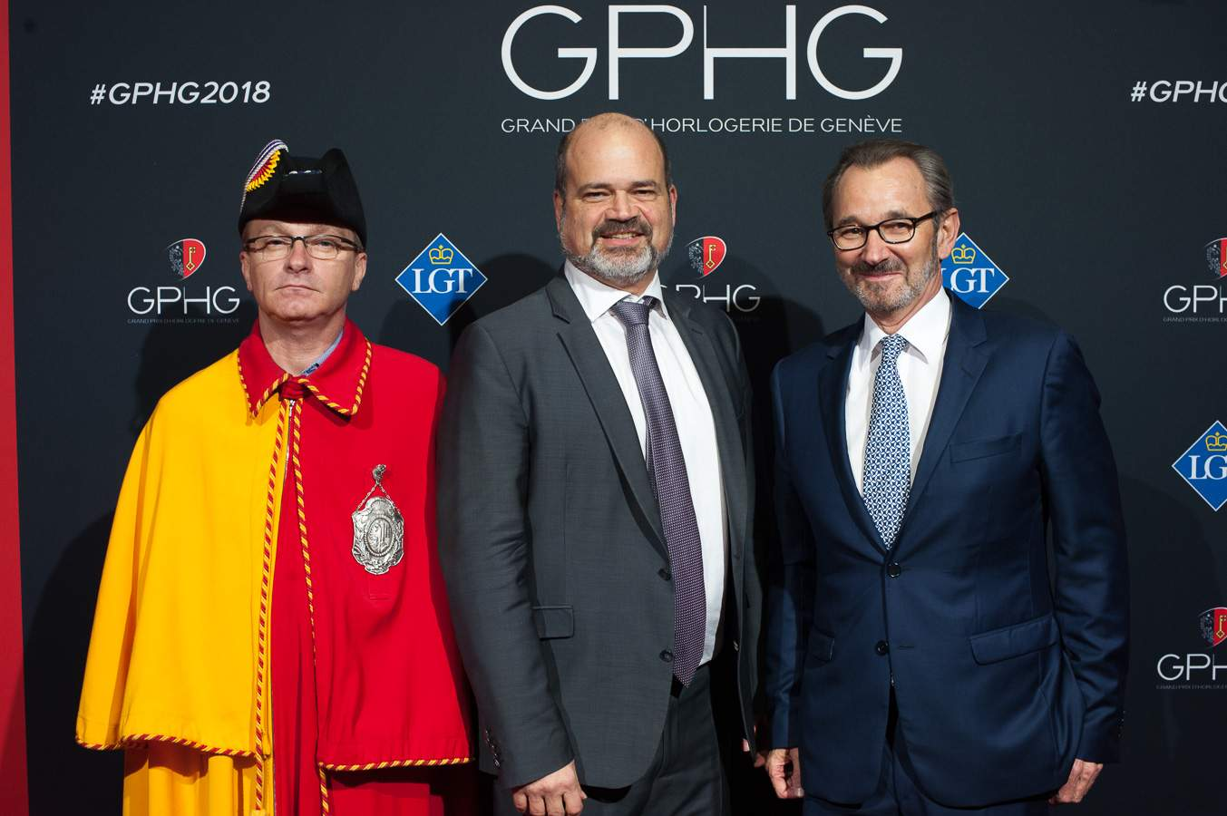 Sami Kanaan, Mayor of the City of Geneva and Raymond Loretan, President of the GPHG Foundation