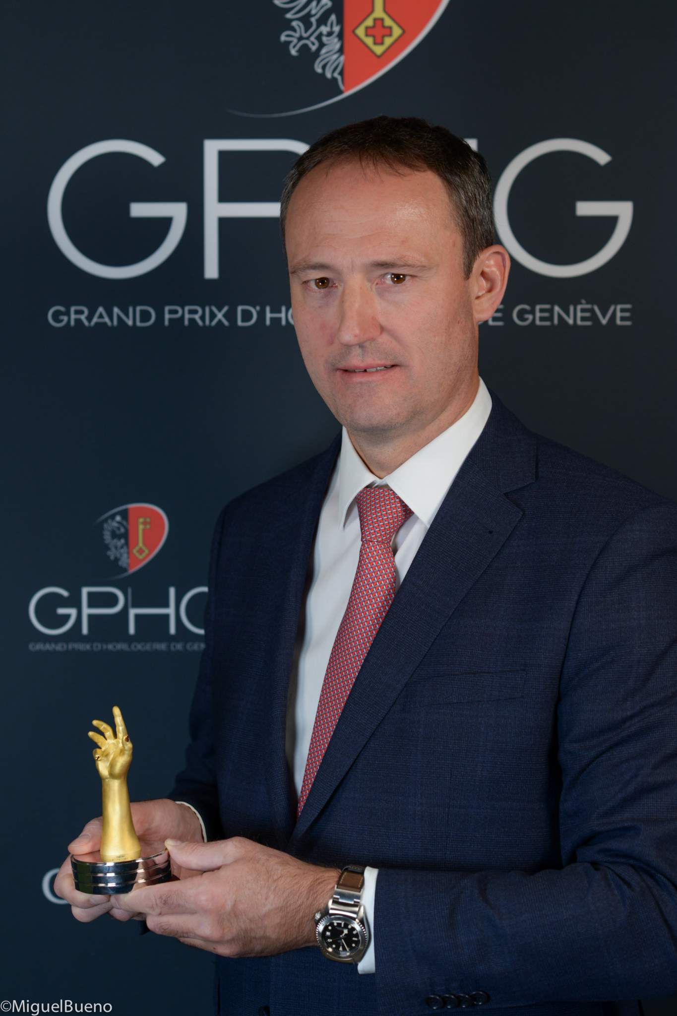 Eric Pirson, Tudor Watches CEO, winner of the Challenge Watch Prize 2019