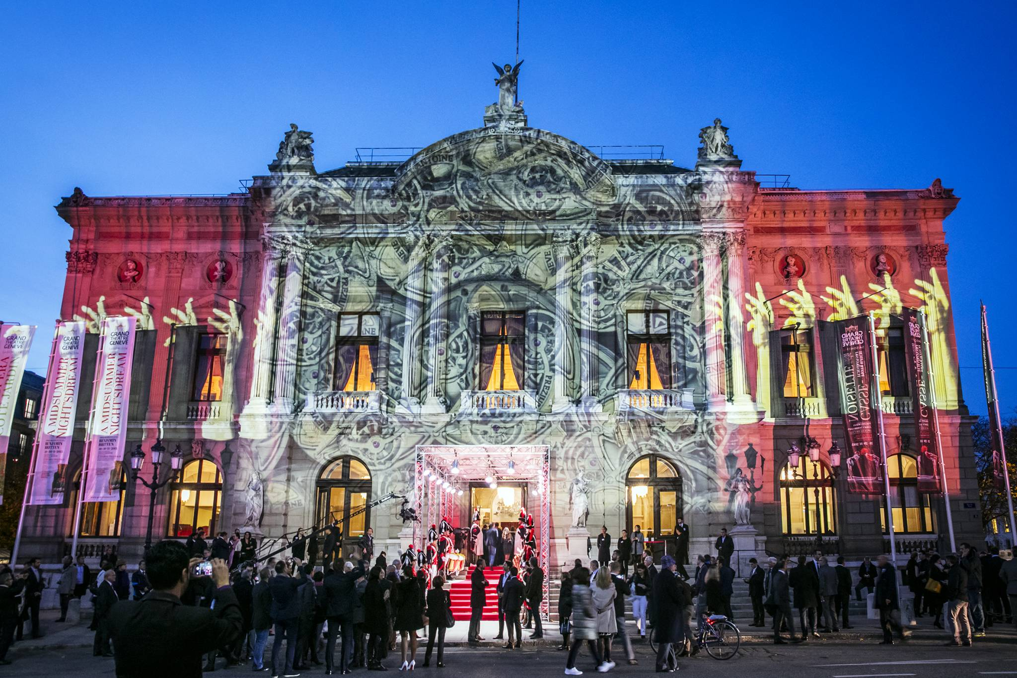 The Grand Théâtre de Genève lit up by Gerry Hofstetter.