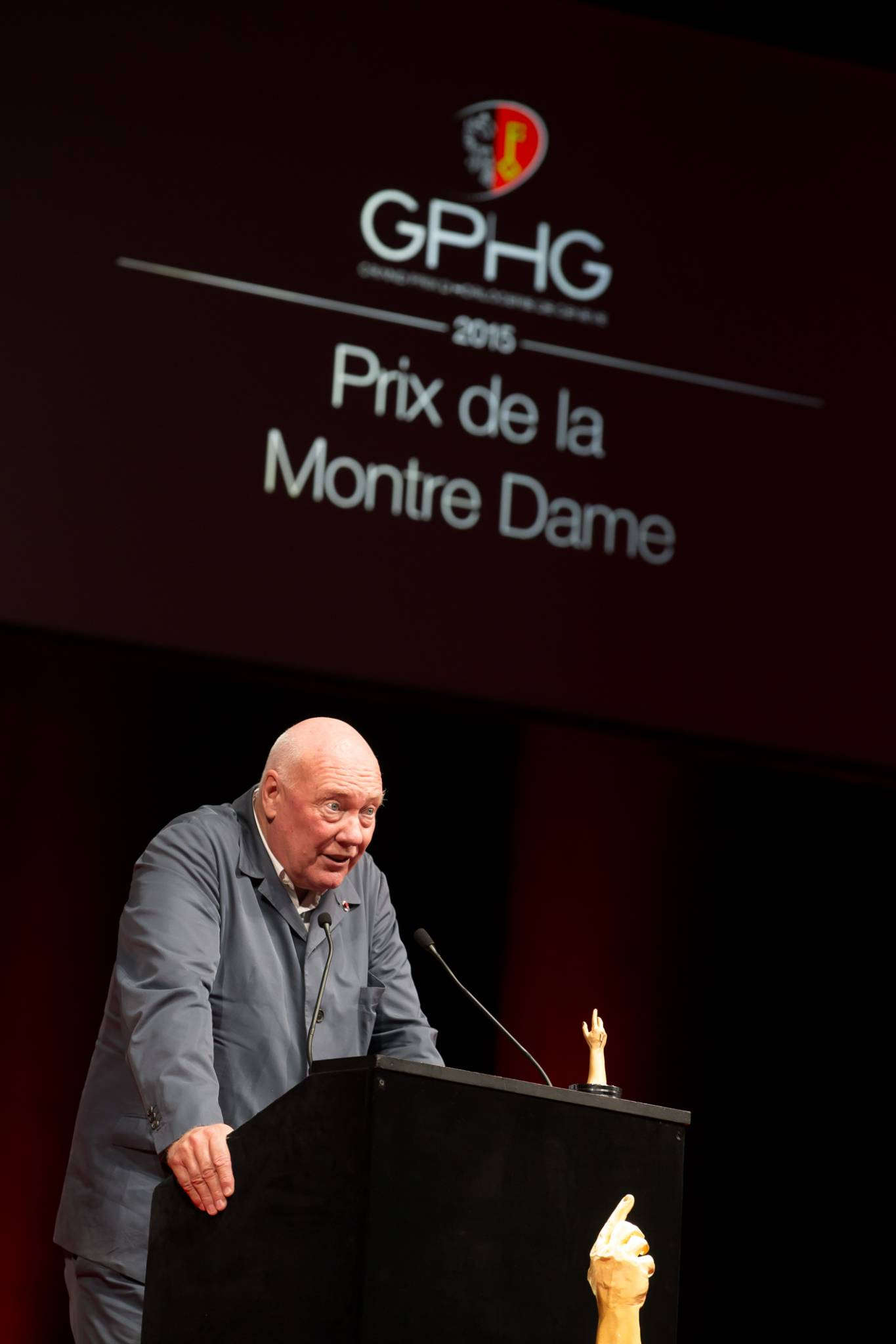 Jean-Claude Biver (President of the Watch Division of the LVMH Group and Chairman of Hublot, winner of the Ladies' Watch Prize 2015)