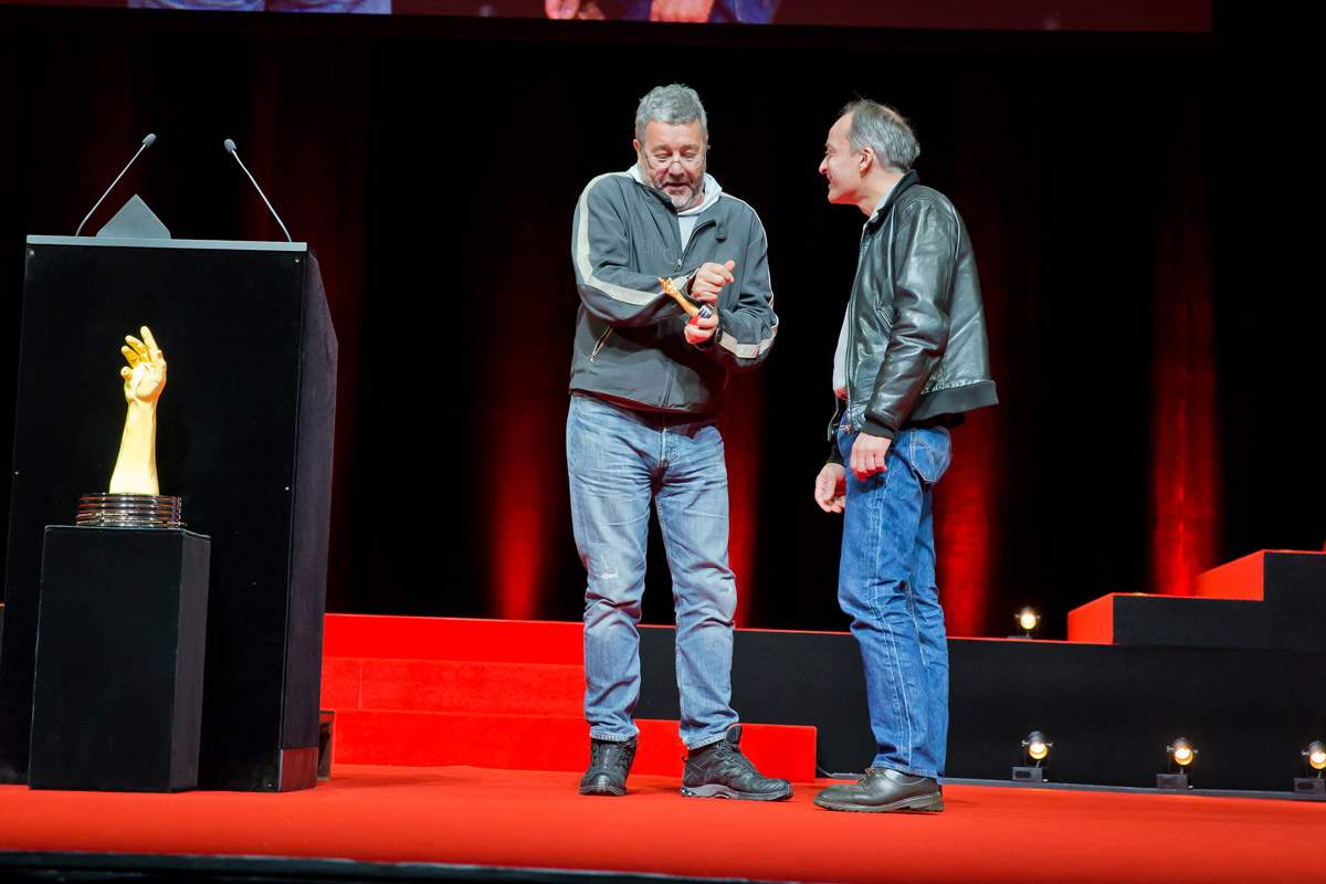 Philippe Starck (jury member of the GPHG 2013) and Vianney Halter