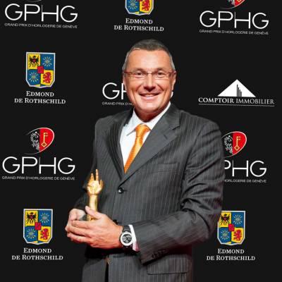 Jean-Christophe Babin, CEO de TAG Heuer, marque lauréate du Prix de l'Aiguille d'Or 2012