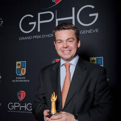 Romain Gauthier, founder of Romain Gauthier, winner of Men's Complications Watch Prize 2013
