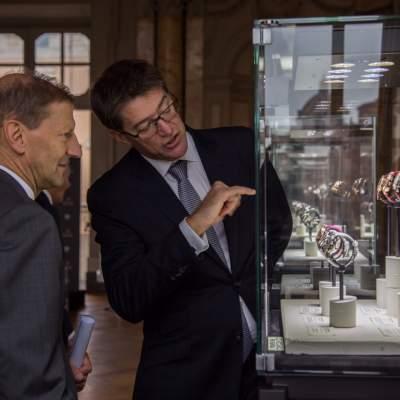 Sua Eccellenza Giancarlo Kessler, Ambasicatore della Svizzera in Italia e Gianfranco Ritschel