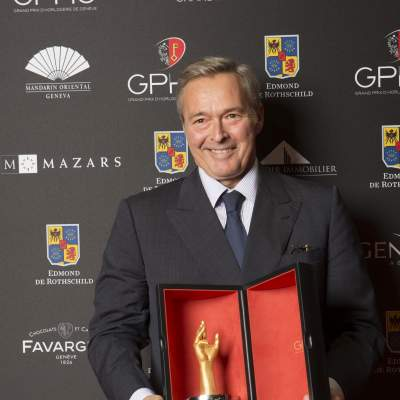 "Karl-Friedrich Scheufele  (President of Chronométrie Ferdinand Berthoud, winner of the ""Aiguille d'Or"" Grand Prix 2016)"
