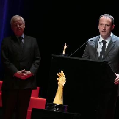 Prince Philipp von und zu Liechtenstein (Chairman of LGT) and Eric Pirson (Director of Tudor, winner of the « Petite Aiguille » Prize 2017)