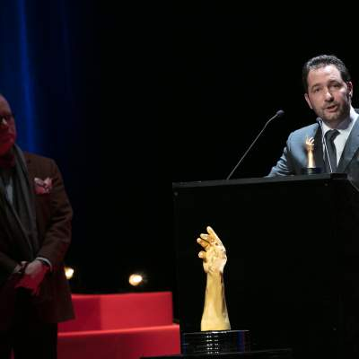 Jack Forster (jury member) and Julien Tornare (CEO of Zenith, winner of the Innovation Prize 2017)
