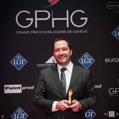 Julien Tornare (CEO of Zenith, winner of the Innovation Prize 2017)