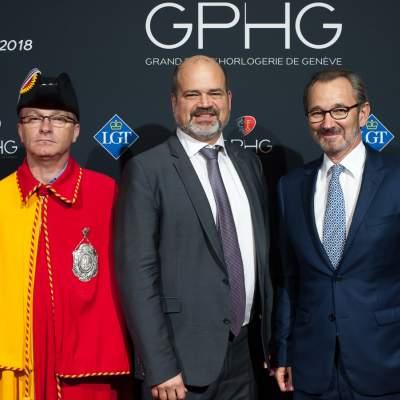 Sami Kanaan, Mayor of the City of Geneva and Raymond Loretan, President of the GPHG Foundation