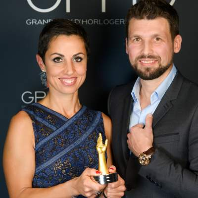 Co-founders of Genus, winners of the Mechanical Exception Watch Prize 2019