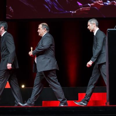 Micke Pintus, Yannick Pintus, Jean-Luc Perrin (watchmakers of Vacheron Constantin, winner of the Special Jury Prize)