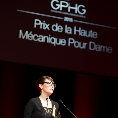 Aurélie Picaud (Timepieces Director of Fabergé, winner of the Ladies' High-Mech Watch Prize 2015)