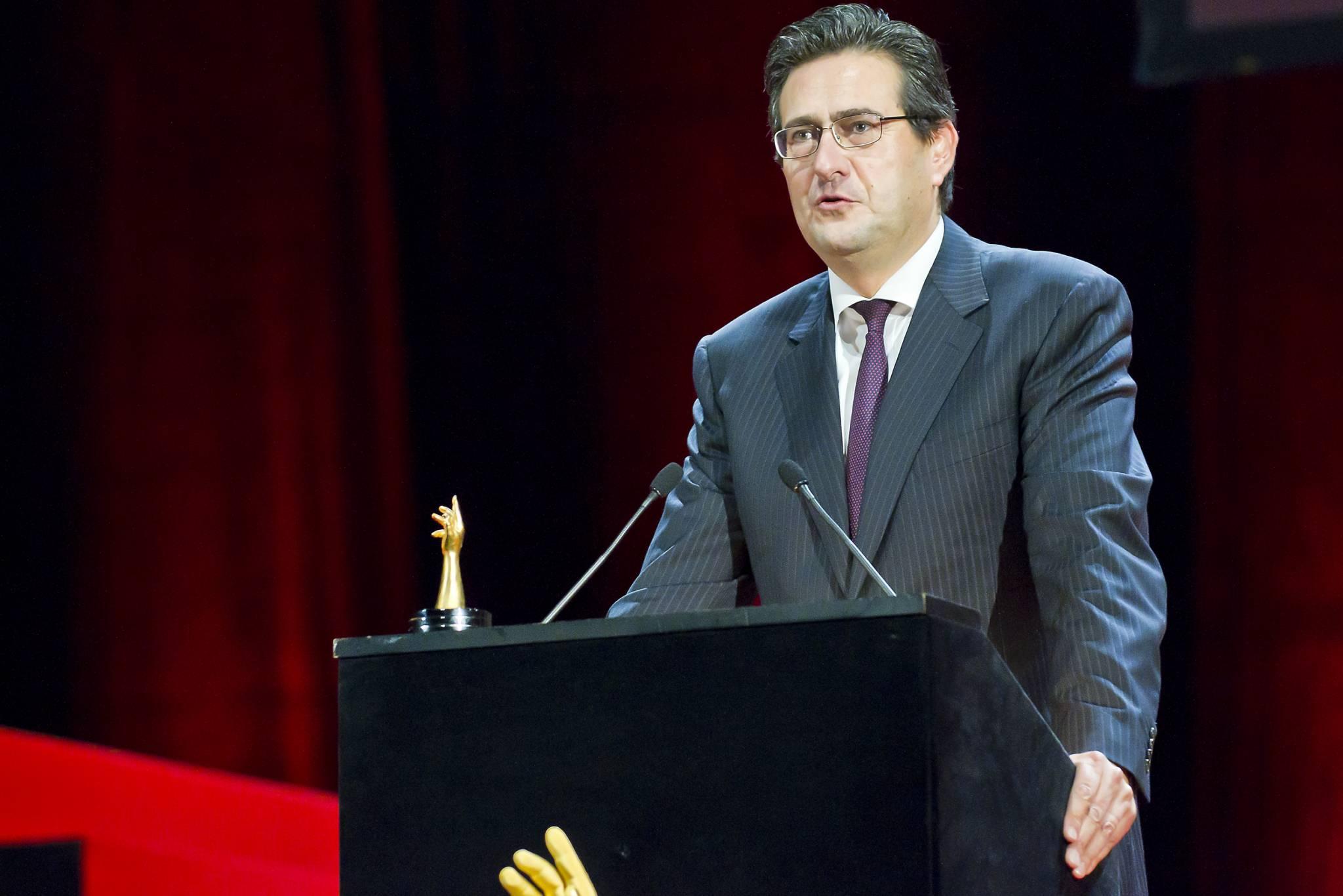 Luc Perramond, CEO of La Montre Hermès, the winner brand of the 2011 Men's Watch Prize