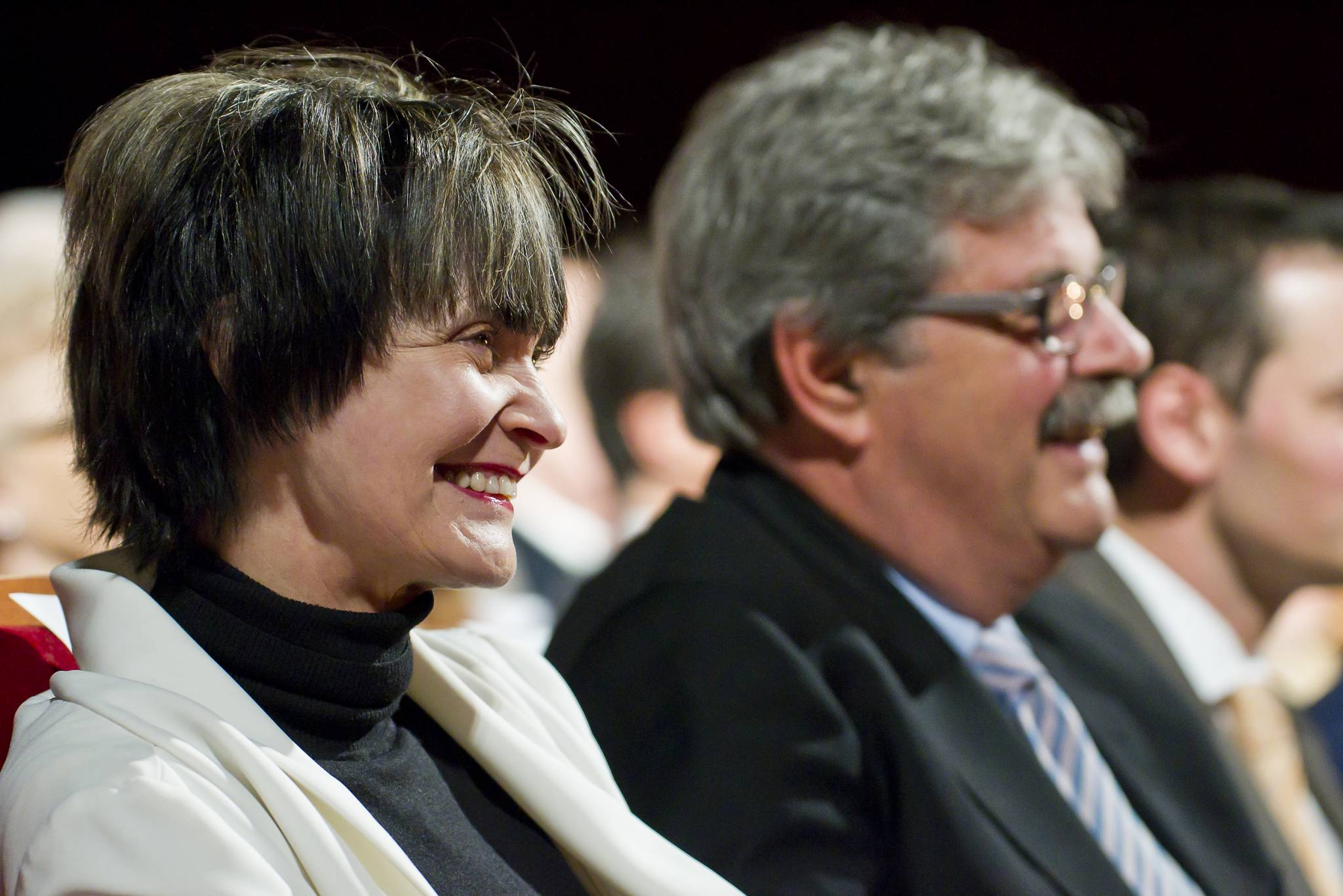 Micheline Calmy Rey, President of the Swiss Confederation, and Pierre-François Unger, Geneva State councillor, November 19th, 2011