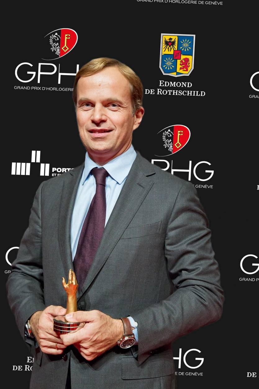 Jean-Frédéric Dufour, CEO de Zenith, marque lauréate du Prix de la Petite Aiguille 2012