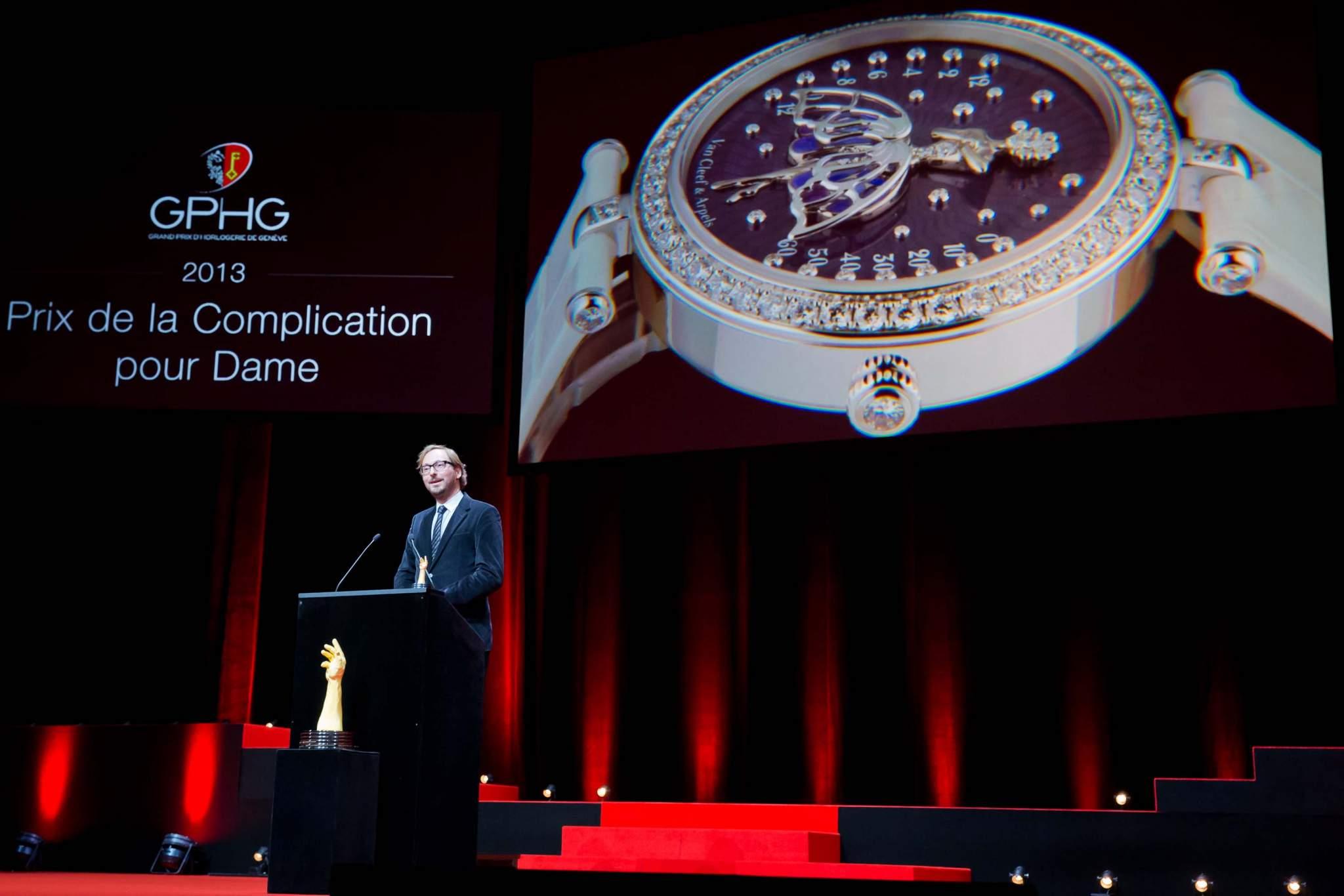 Speech of Nicolas Bos, CEO of Van Cleef & Arpels, winner of the Ladies' Complications Watch Prize 2013