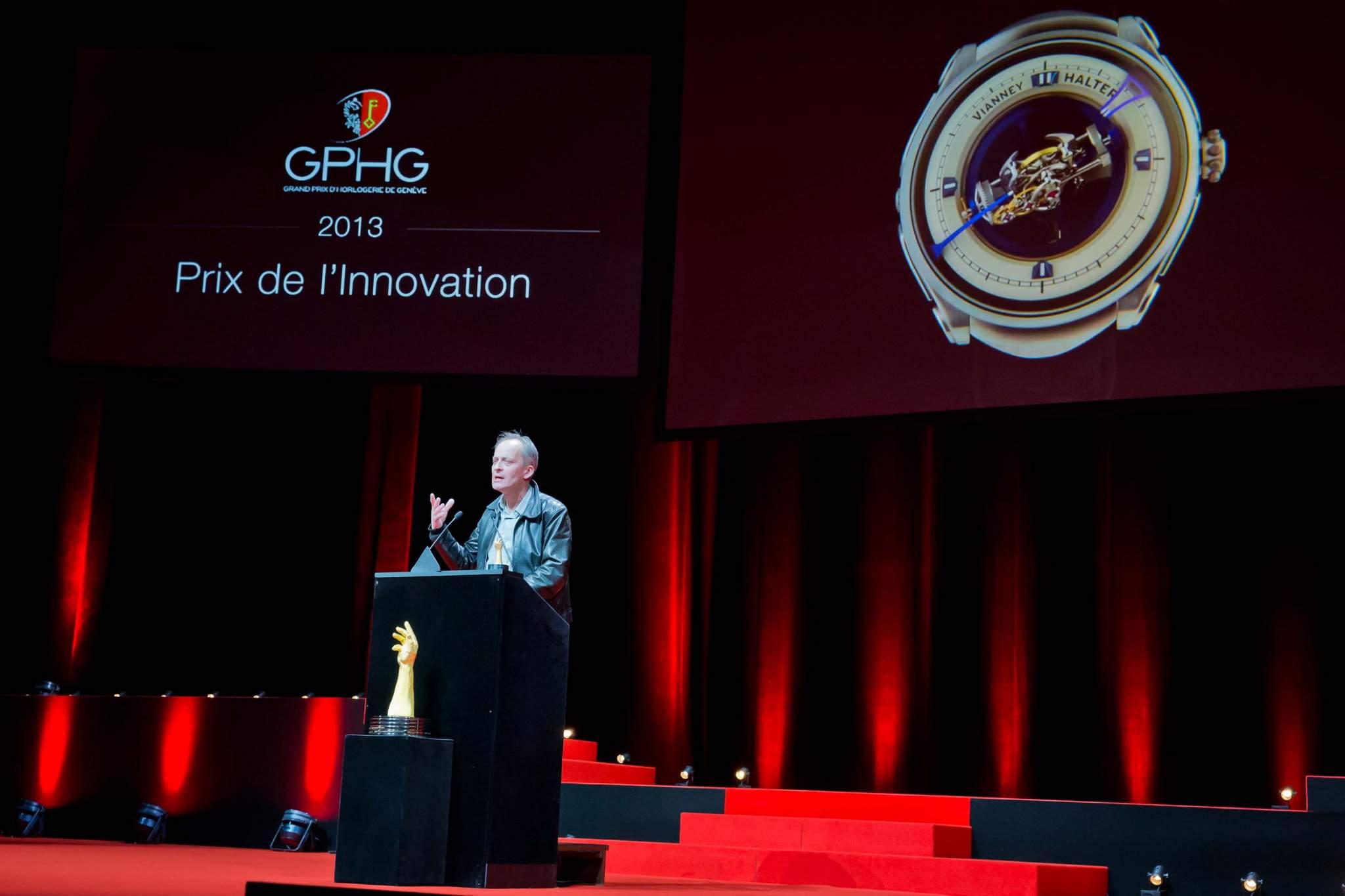 Speech of Vianney Halter, founder of Vianney Halter, winner of Innovation Prize 2013