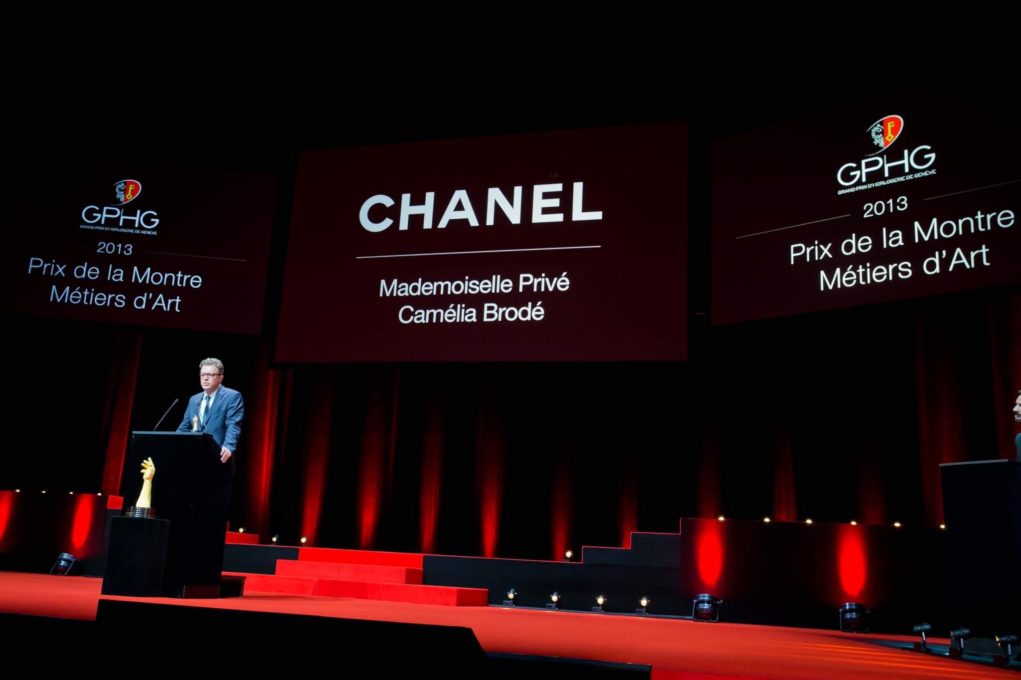 Speech of Nicolas Beau, International watch director of Chanel, winner of the Artistic Crafts Watch Prize 2013