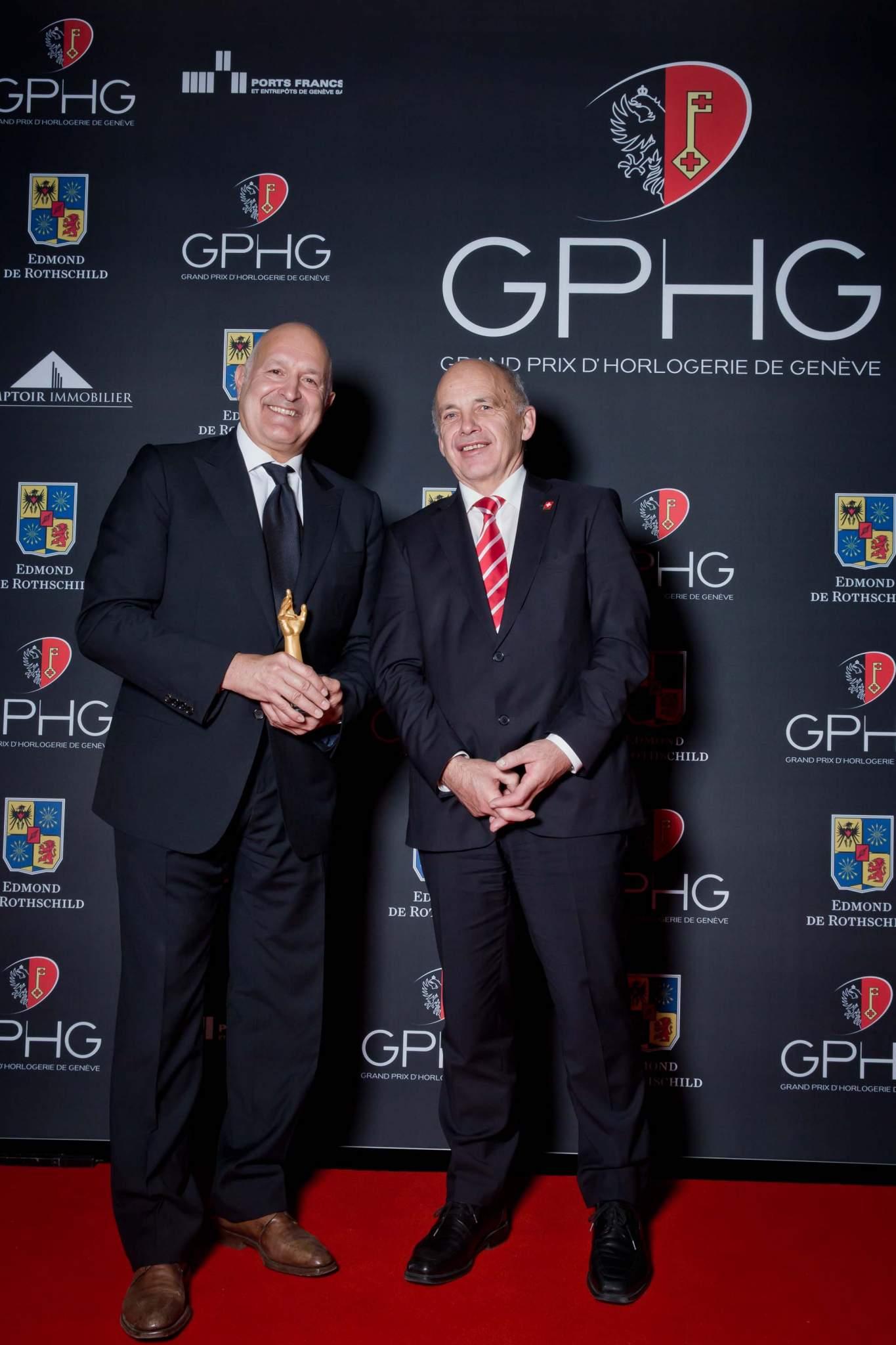 Michele Sofisti, CEO of Girard-Perregaux, and Ueli Maurer, President of the Swiss Confederation