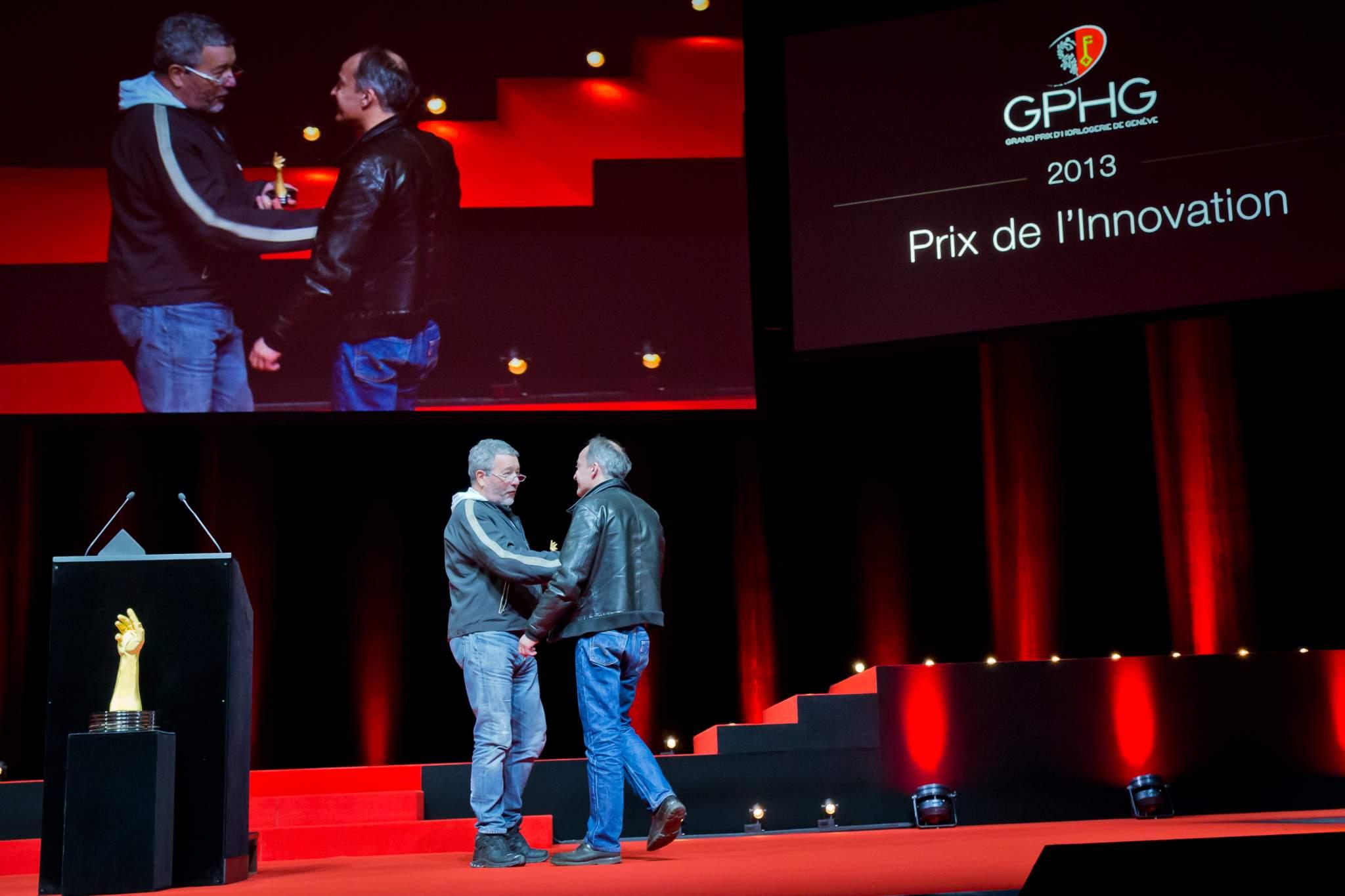 Philippe Starck, member of the Jury 2013, and Vianney Halter