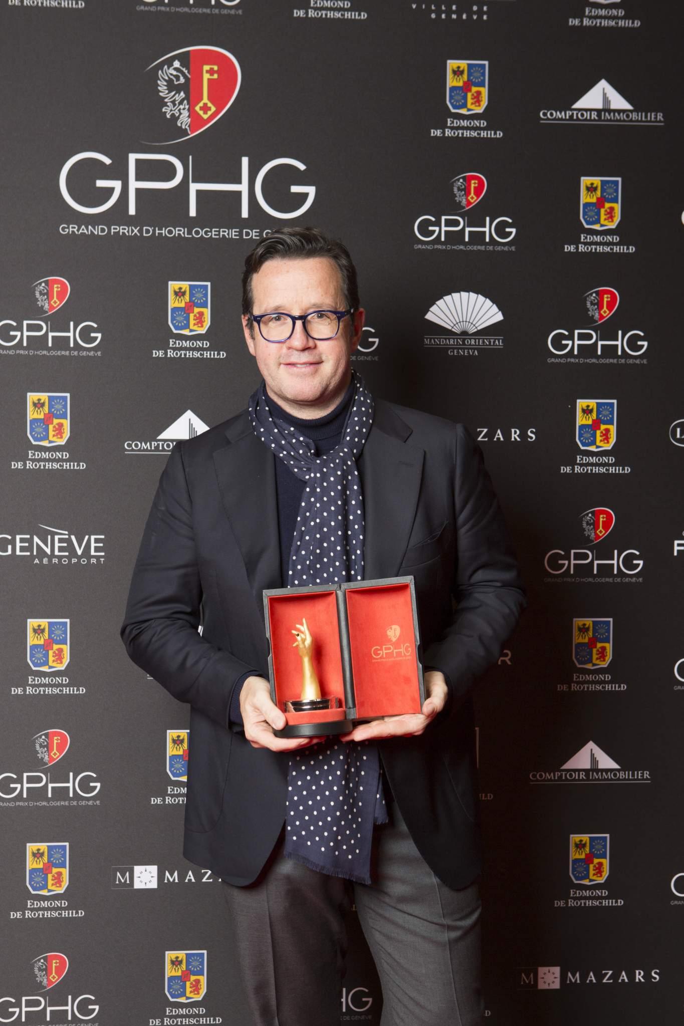 François Bennahmias (CEO of Audemars Piguet, winner of the Mechanical Exception Watch Prize 2016)