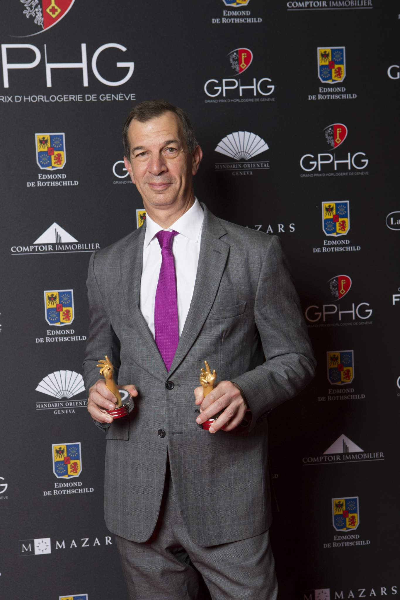 Philippe Léopold-Metzger (CEO of Piaget, winner of the Artistic Crafts Watch Prize 2016 and the Ladies' Watch Prize 2016)