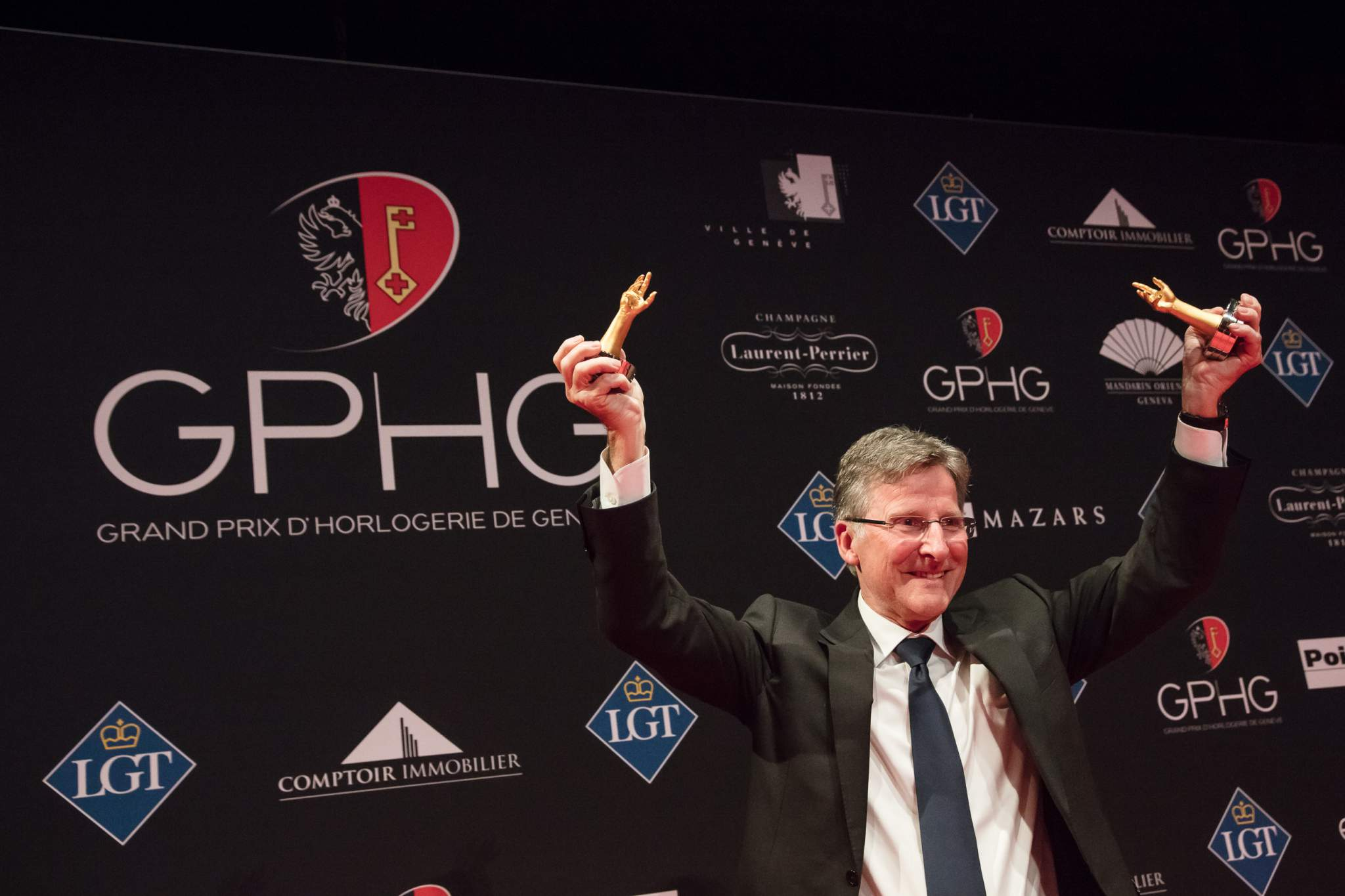 Michel Parmigiani (President and Founder of Parmigiani Fleurier, winner of the Travel Time Watch Prize 2017 and of the Chronograph Watch Prize 2017)