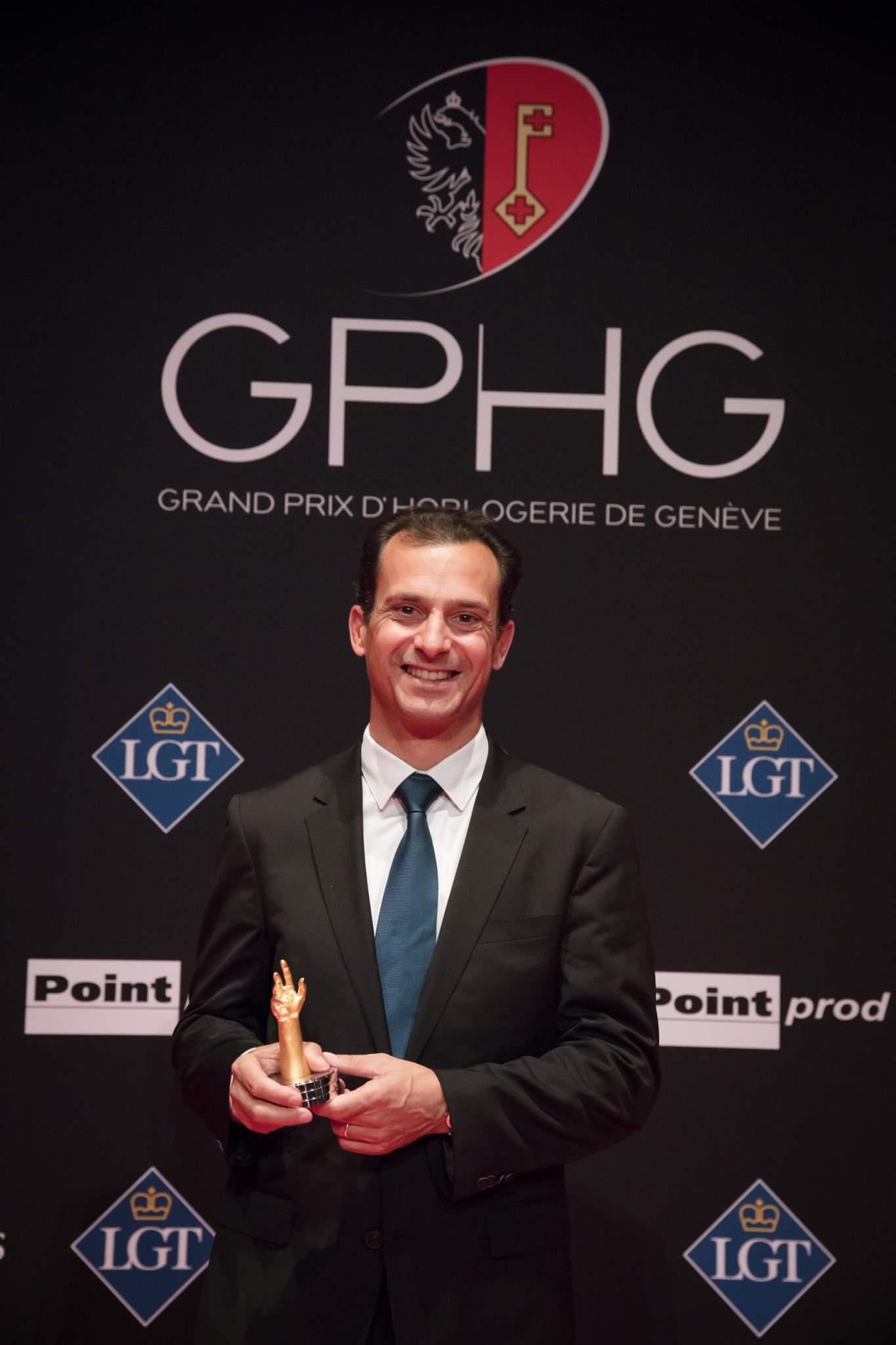 Eric de Rocquigny (International Operations & Métiers Director of Van Cleef & Arpels, winner of the Ladies'High-Mech Watch Prize 2017)