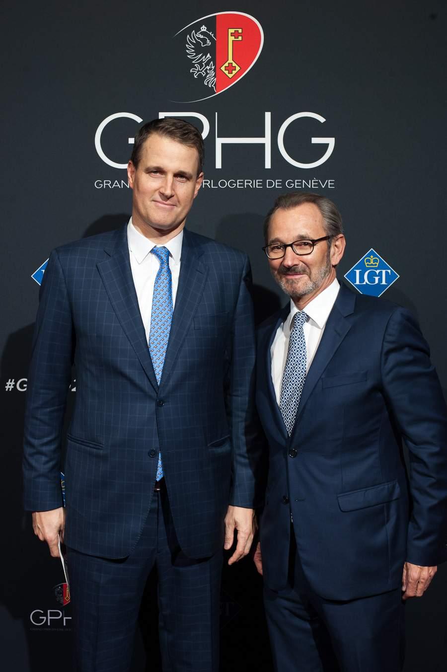 S.A.S. Prince Hubertus von und zu Liechtenstein and Raymond Loretan, President of the GPHG Foundation