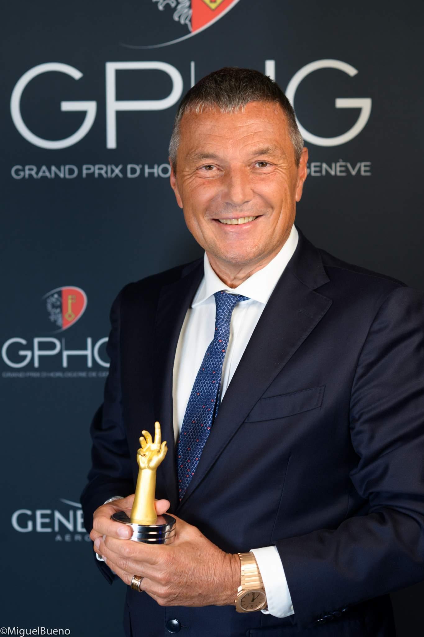 CEO of Bulgari, winner of the Jewellery Watch Prize 2019
