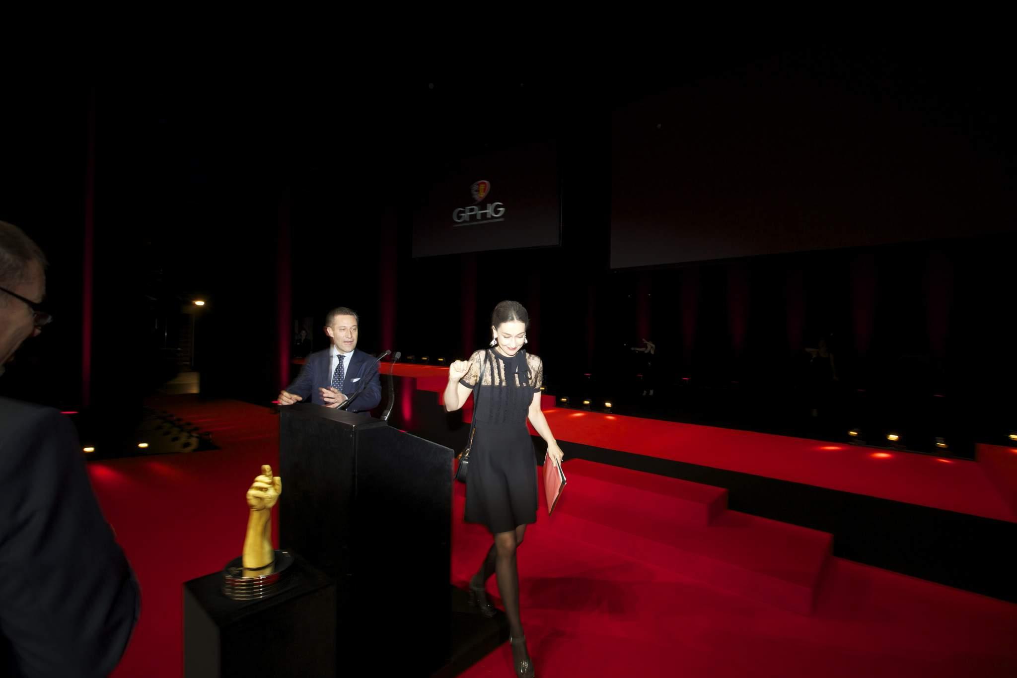 Aurel Bacs (Président du jury du GPHG) et Carine Maillard (Directrice de la Fondation du GPHG)