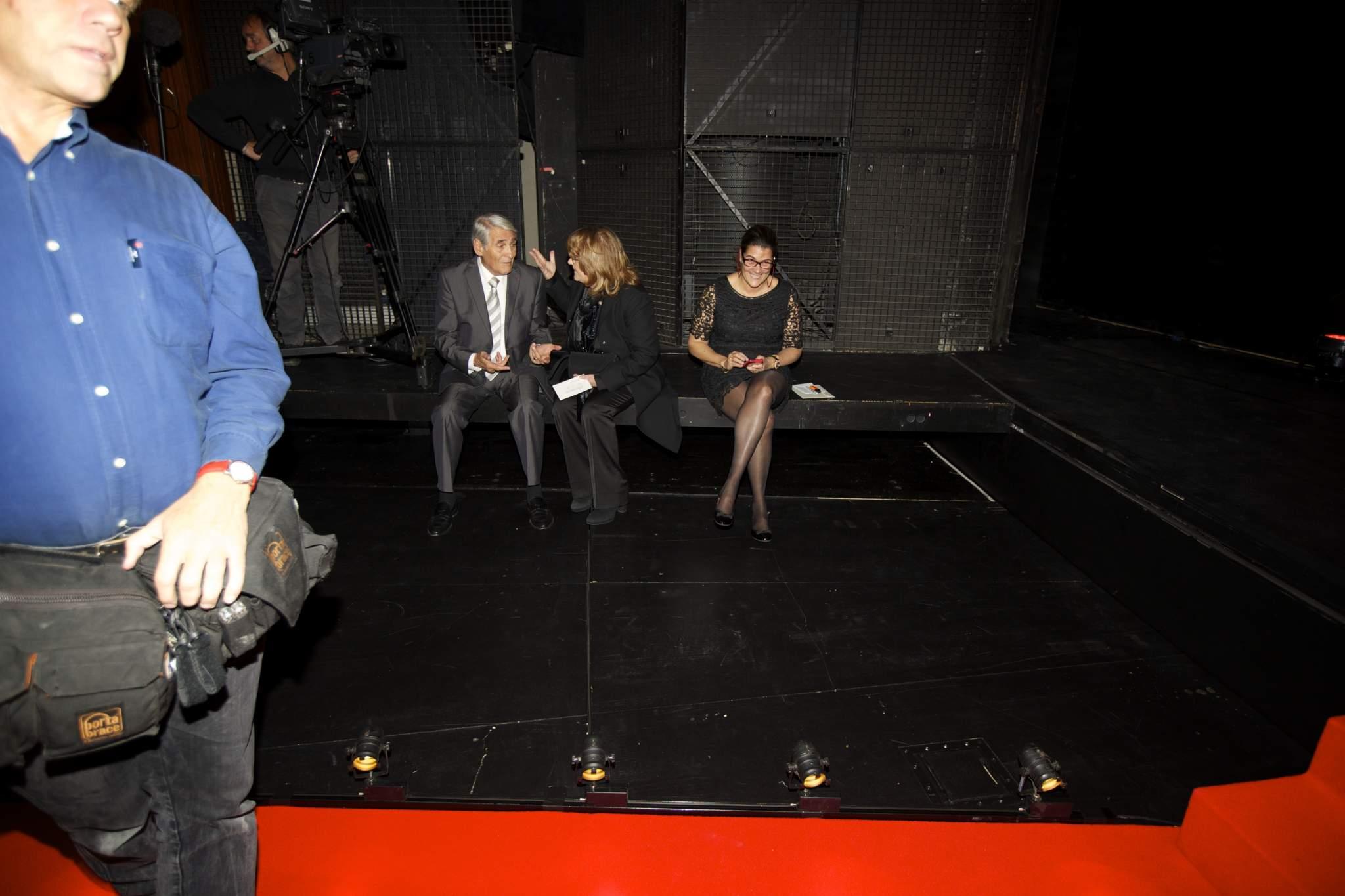 Carlo Lamprecht (Président de la Fondation du GPHG), Paola Pujia (membre du jury du GPHG 2014) et Sasha Camperio (Managing Director de Quintessentially Events SA)