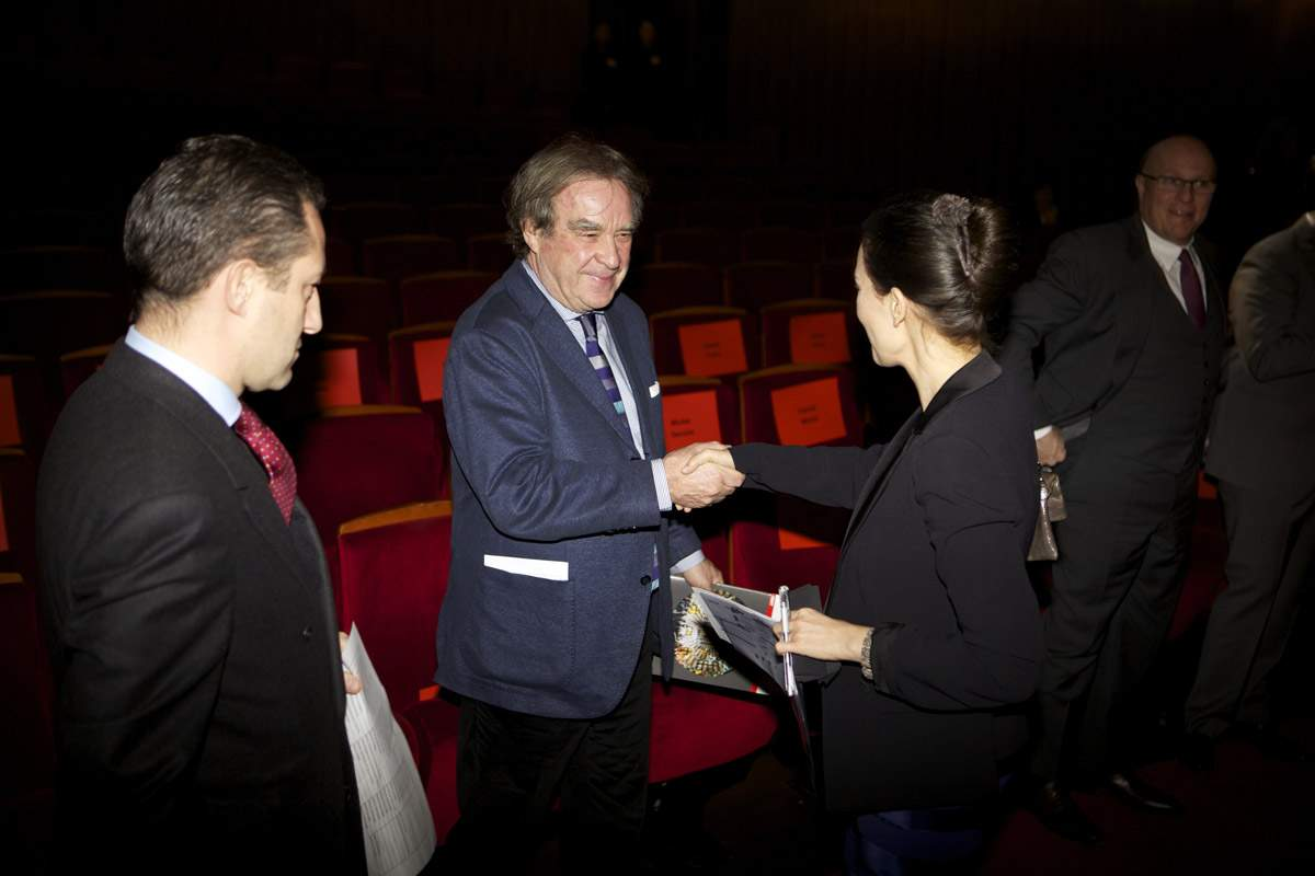 Aurel Bacs (Président du jury du GPHG), Jean-Michel Wilmotte (membre du jury du GPHG 2013) et Carine Maillard (Directrice de la Fondation du GPHG)