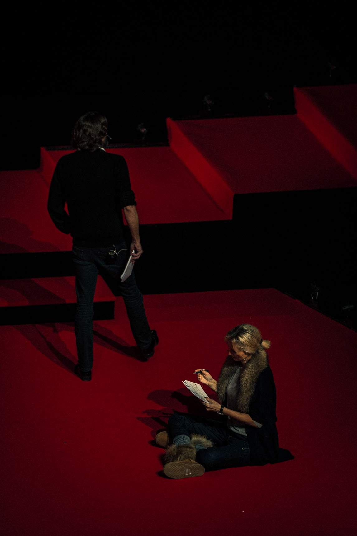 Frédéric Beigbeder et Adriana Karembeu (présentateurs de la cérémonie du GPHG 2012)