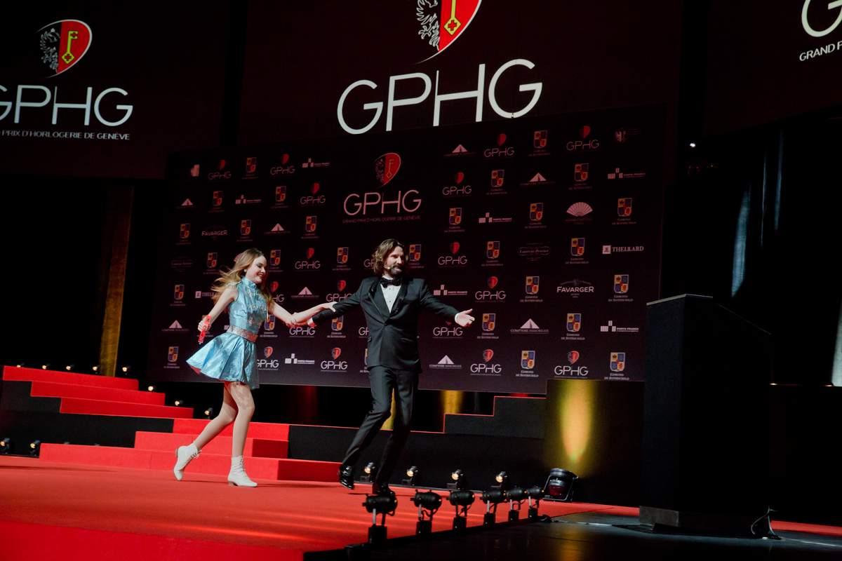 Solweig Lizlow et Frédéric Beigbeder (présentateurs de la cérémonie du GPHG 2013)
